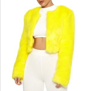 Yellow- IT'S FAUX REAL JACKET